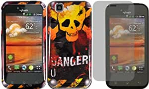 Danger Hard Case Cover+LCD Screen Protector for T-Mobile Mytouch LG Maxx Touch E739