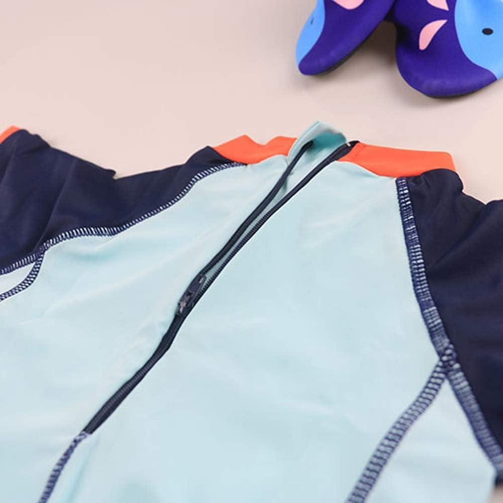 Happy Cherry Baby Boys Two Piece Swimsuit Rashguard Sun Protection Swimwear