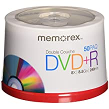 Memorex 8.5 GB 8 X Double Layer DVD+R - 50 Pack Spindle