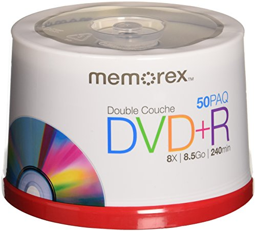 Memorex 8.5 GB 8 X Double Layer DVD+R - 50 Pack Spindle by Memorex