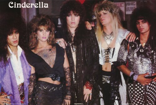 Cinderella Poster Band Shot 1980s