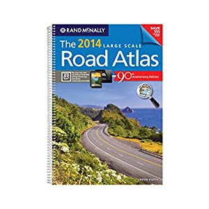 """ADVANTUS Rand McNally Large Scale Road Atlas, Paperback, 264 Pages, 15-3/8"""" x 10-7/8"""" x 5/8"""" (RM528008056)"""