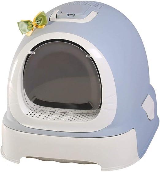HRYSHY Arena para Gatos Mascotas Caja de Arena para Gatos Inodoro ...