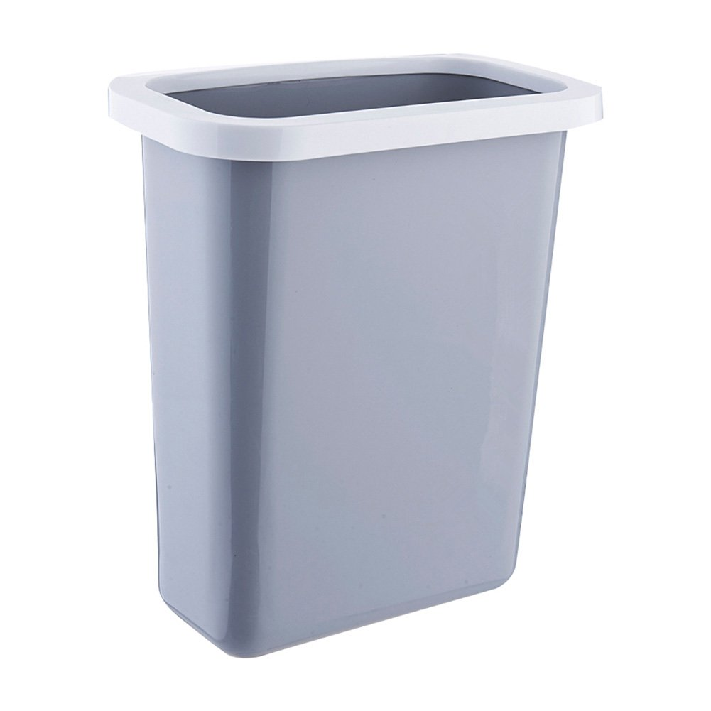 HaloVa Trash Can, Multifuctional Hanging Waste Bin, Recycling Wastebasket for Home Cabinet Office Kitchen Dorm Kid Room and More, Large, Gray