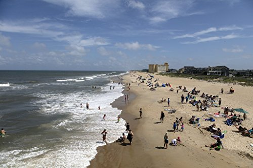 Photograph| Beach scene near Jennette's Pier in Nags Head, a community on North Carolina's Outer Banks 3 Fine Art Photo Reproduction 66in x 44in