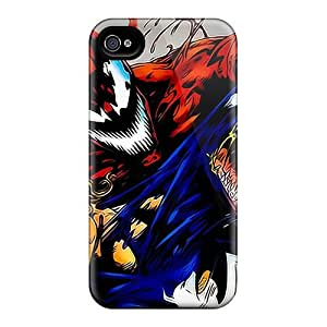 High Grade PamarelaObwerker Flexible Tpu Cases For Iphone 4/4s - Venom And Carnage