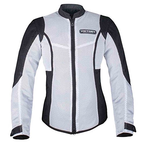 Victory Motorcycle New OEM Women's White Mesh Riding Jacket, XS, 286522101 -