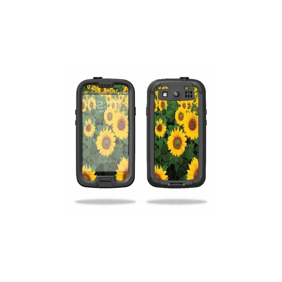 Mightyskins Protective Vinyl Skin Decal Cover for LifeProof Samsung Galaxy S III S3 Case fre wrap sticker skins Sunflowers