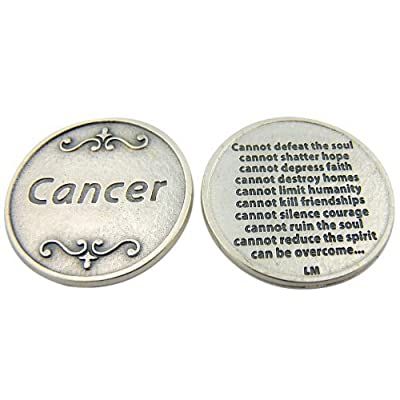 Religious Gift Those Suffering from Cancer Cannot Defeat Pocket Token : Hobby Coin Collecting Products : Everything Else