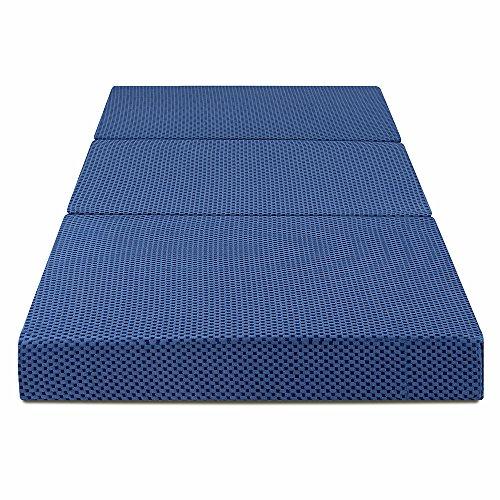 (PrimaSleep 4-inch Tri-Folding Memory Foam Mattress, 78'' x 38'' x 4'' (Twin))