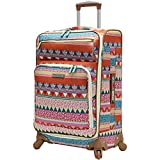 Lily Bloom Midsize 24'' Expandable Design Pattern Luggage With Spinner Wheels (24in, On the Prowl)