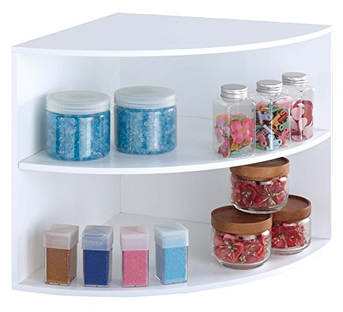 Corner Shelf Craft Organizer Cube, White