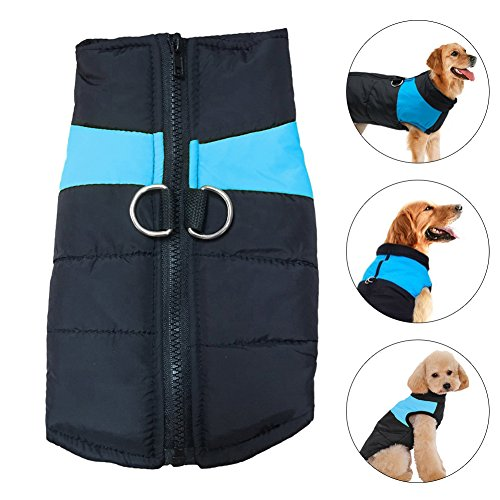 Dogs Fleece Jacket Coat, Pets Outdoor Clothing Anti Anxiety and Stress Relief - Fleece-Lined Comfort & Soft Warm Vest for Cold or Winter Weather, Size S-L