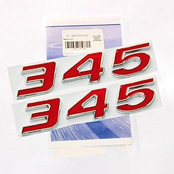 1 OEM Grille Challenger Emblem Nameplate leaf  L for Dodge Chrysler Chrome Black