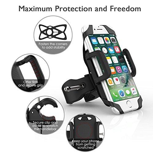 Supporto Bici Smartphone, iVoler Supporto Manubrio Universale Bici Moto per Bicicletta Ciclismo, GPS e altri Dispositivi Elettronici, Porta Telefono regolabile per iPhone 7/6/6S/6/6S Plus/5/5S, Galaxy