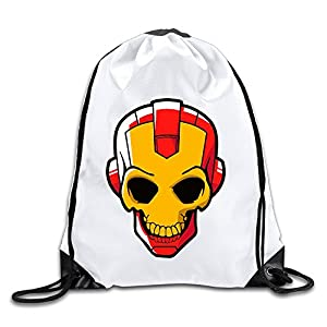 HAAUT Camiseta Iron Man Skull Port Bag Drawstring Backpack