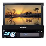 Pumpkin Single Din 7 inch Adjustable Touchscreen In Dash Car DVD Player Quad Core Stereo Bluetooth Radio Receiver GPS Navigation Support 3G WiFi OBD2 Mirror-link with Wireless Remote