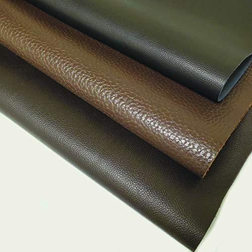"INCIRCLE Leather - Real Cow Skins, Sizes (15.6X19.6 inch) 2.2 Square FEET Grade ""A"" for All Patch, Crafts & Arts (Dark Chocolate)"