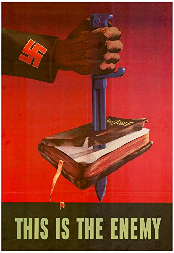 This is the Enemy Anti-Nazi WWII War Propaganda Art Print Poster 13 x 19in