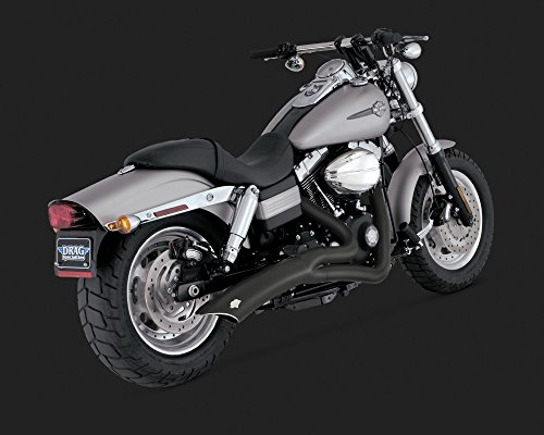 (07-17 HARLEY FXDB3: Vance & Hines Big Radius 2-Into-1 Exhaust (Black))