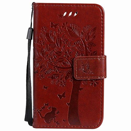 K3 Media Slots Pu Slim Kickstand café Funda Premium Dibujo Design Cover De Árbol Protective With Pouch Wallet Leather Bumper 2017 Flip Lg Shell Yiizy Card 5gzRfp5