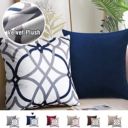 H.VERSAILTEX Velvet Plush Easy Care Decorative Throw Pillow Covers Soft Elegant