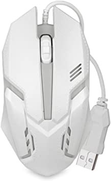 LED Optical Wired Mouse for Computer Accessory Gaming working white