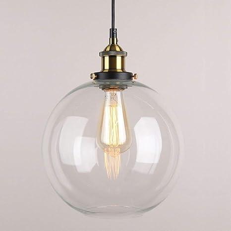 Maxmer Lámpara Vintage Colgante Luz Industrial Lámpara de Techo Retro Pantalla