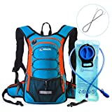 Cheap MIRACOL Hydration Backpack 2L Water Bladder Long Tube Brush, Thermal Insulation Hydration Pack Keeps Liquid Cool up to 4 Hours, Prefect Outdoor Gear Hiking, Running, Camping, Cycling
