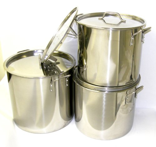 Ballington BA76A Stainless Steel Stock Pots, Large, Set of 3