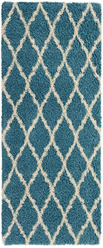 Ottomanson Ultimate Shaggy Collection Moroccan Trellis Desig