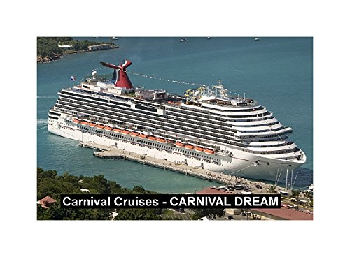 (CRUISE SHIP FRIDGE MAGNET - CARNIVAL CRUISES - CARNIVAL DREAM 3½ x 2½ inches Jumbo)