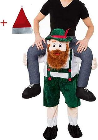 Bavarian Beer Guy Ride On Oktoberfest Mascot Fancy Dress Costume Adult  Unisex