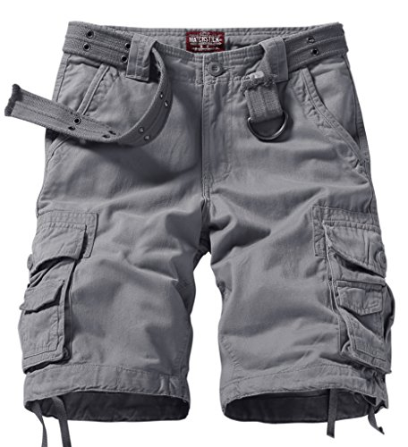 match-mens-comfort-cargo-short-label-size-3xl-38-us-36-3056-gray