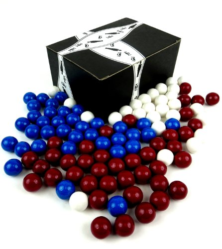 SweetWorks Celebration Red, White, and Blue Gumballs, 1 lb Assorted Bag in a Gift Box
