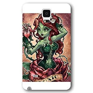 UniqueBox Poison Ivy Custom Phone Case for Samsung Galaxy Note 4, DC comics Poison Ivy Customized Samsung Galaxy Note 4 Case, Only Fit for Samsung Galaxy Note 4 (White Frosted Shell) WANGJING JINDA