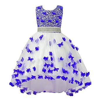 WanYang Verano Bebe Niña Moda Princesa Vestido Flor Fiesta Floral Vestidos Elegante Vestido Ropa Chicas