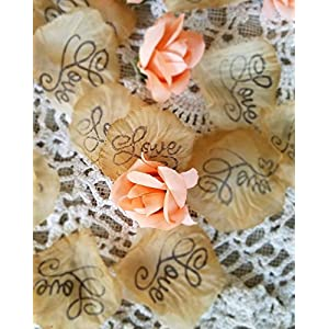 Wedding Confetti, silk rose petals, Soft coral rosebuds, Wedding Table scatter,Bridal Shower Decorations 13