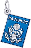 Rembrandt Charms Sterling Silver Passport Charm (13 x 17 mm)