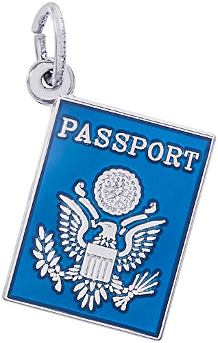 Rembrandt Charms 14K White Gold Passport Charm (13 x 17 mm) by Rembrandt Charms