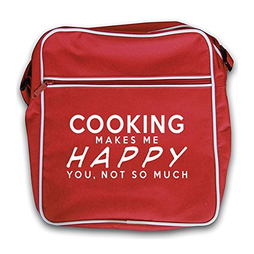 Cooking Happy Red Red Makes Me Retro Cooking Makes Flight Bag qIFprIwn8