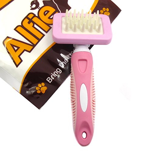 Alfie Pet by Petoga Couture - Massage Brush for Small Animal - Ideal for Rabbit, Chinachilla, Guinea Pig, Puppy and Kitten