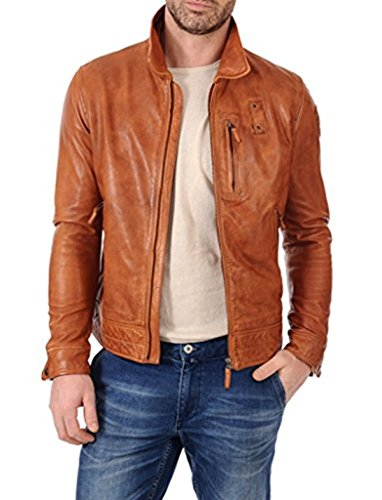Tan Leather Jacket Mens - 2
