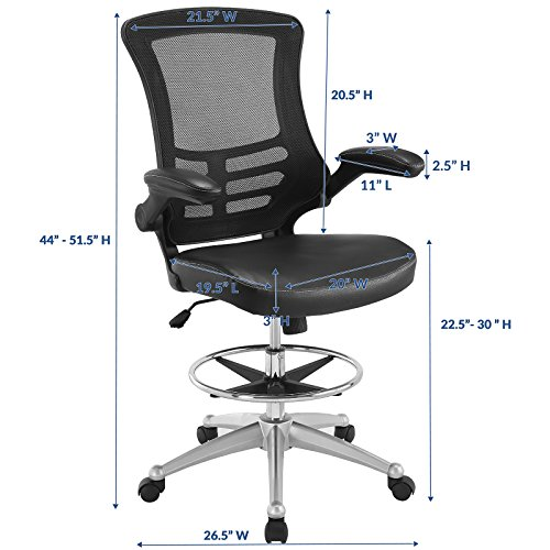 office products, office furniture, lighting, chairs, sofas,  drafting chairs 10 image LexMod MO-EEI-1422-BLK Attainment Vinyl Seat in USA