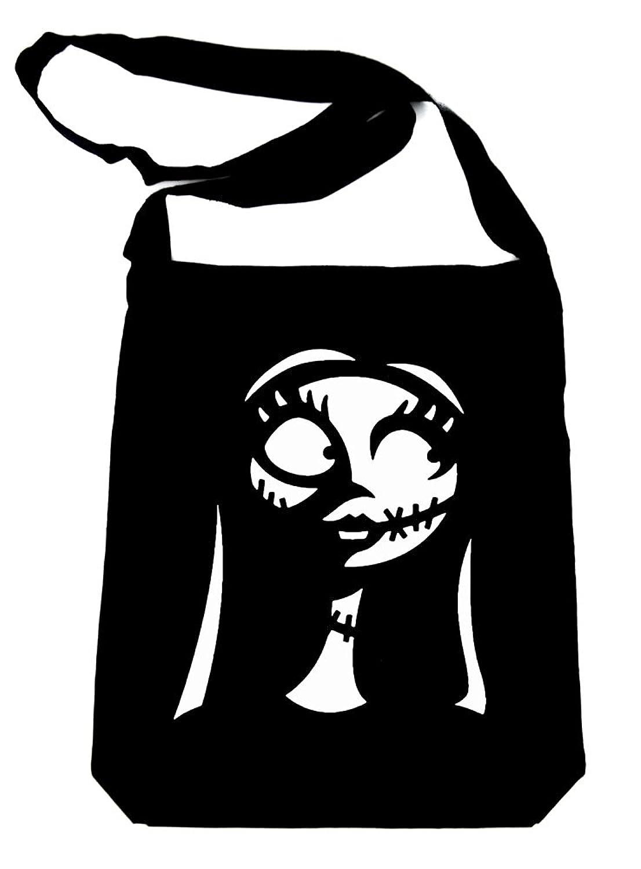 Amazon.com: Sally Silhouette Nightmare Before Christmas Sling Bag ...
