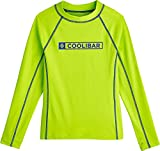 Coolibar UPF 50+ Boy's Logo Surf Rash Guard - Sun Protective (Medium- Mojito)
