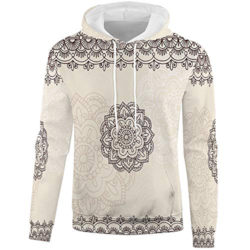 iPrint Hoodies for Men,Henna,Long Sleeved Patchwork for sale  Delivered anywhere in USA