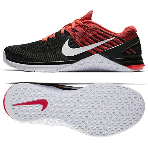 Nike Metcon Dsx Flyknit Size 11.5 Mens Cross Training Black/White-Bright Crimson-Gym Red Shoes