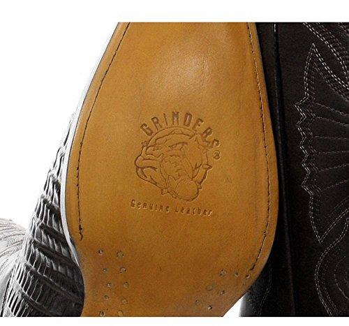 Coccodrilo Pelle da Vera Stivali Stile Effetto Texani a in Uomo Punta nero Cowboy gwwzRqxU