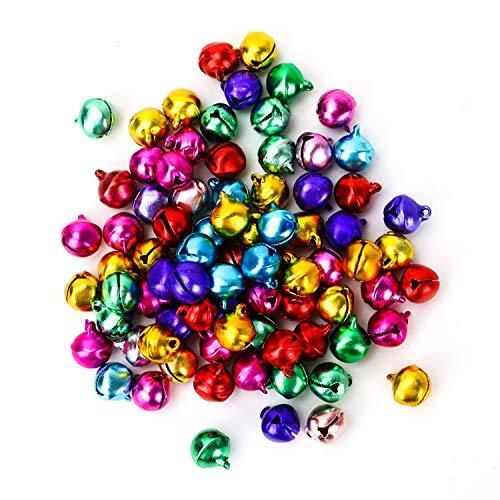 - TOPMO 200PCS Jingle Bells Small Mini Bells Bulk for ChristmasParty Festival Decorations and Jewelry Making,10MM